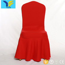 Wholesale cheap ruffled wedding party chair covers universal ruched spandex wedding chair cover