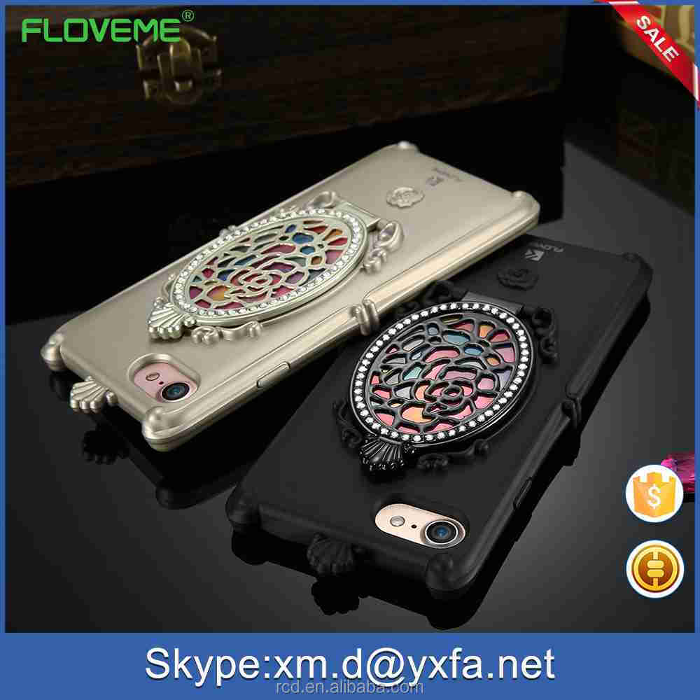 2017 FLOVEME New Wholesale Girly Cell <strong>Phone</strong> With Mirror Case Cover for Samsung Galaxy S7