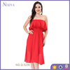 2018 Designer Red Slim Adult Lady Women Cocktail Sexy Girls Tube Party Dress