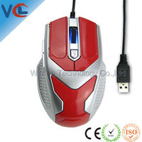 Iron Man Newest OEM Gaming Mouse with Mix Color and 6 Buttons