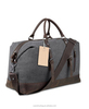 Travel Duffel Bag Canvas Leather Overnight Bag