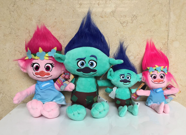 Kids Trolls Plush Toys Stuffed Cartoon Dolls For Children Poppy Branch Hug Kids Christmas Gift