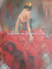 art modern dancing girl painting oil painting