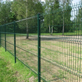Powder coated RAL6005 welded curved wire mesh fence panels