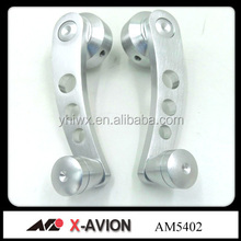 Oxidaion brushed billet aluminum window winder handle cranks in car In silver color