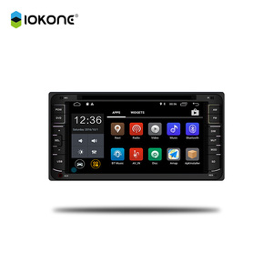 "IOKONE 6.2"" HD 2 Din Touch Screen Car Radio For Toyota Mark X With GPS, TMC, Camera, MIC, DVD-T"