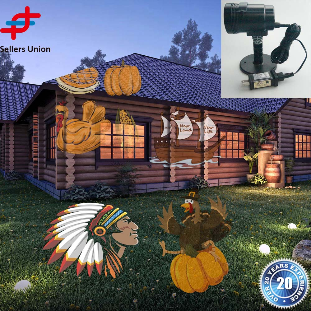 Cheap Thanksgiving festival Laser Projector Light Outdoor turkey Landscape Led Party laser light show