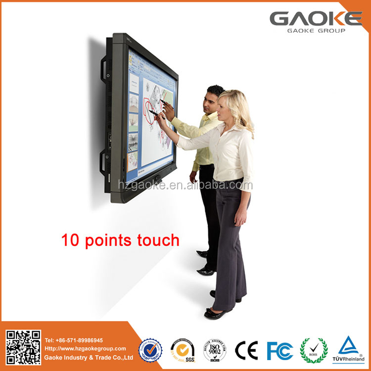 Virtual interactive whiteboard finger touch screen LCD LED interactive touch flat panel monitor metal frame smart tv
