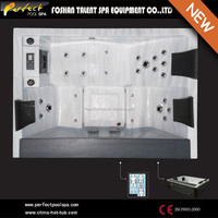 New design free massage video hot tub spa, deluxe outdoor spa wholesale price sexy video