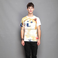 Guangdong China compressed multi color 3d printing men's t shirt