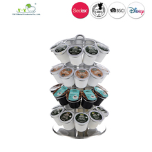 Factory supply 36 pods K-cup lavazza coffee capsule holder with rotating base