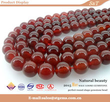 Beads for jewelry polishing perfect round shape natural all types of beads red agate