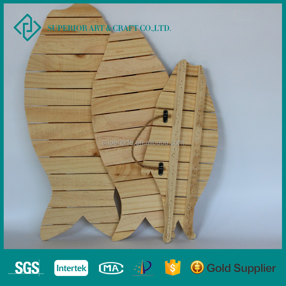 High Quality craft Decor Type Fish Shaped Wood Crates Wholesale