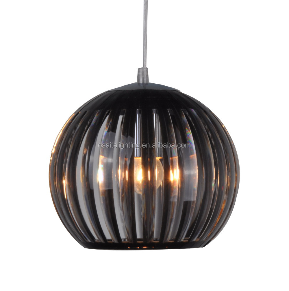 Zhongshan dining table black color acrylic pendant <strong>lamp</strong> for kitchen