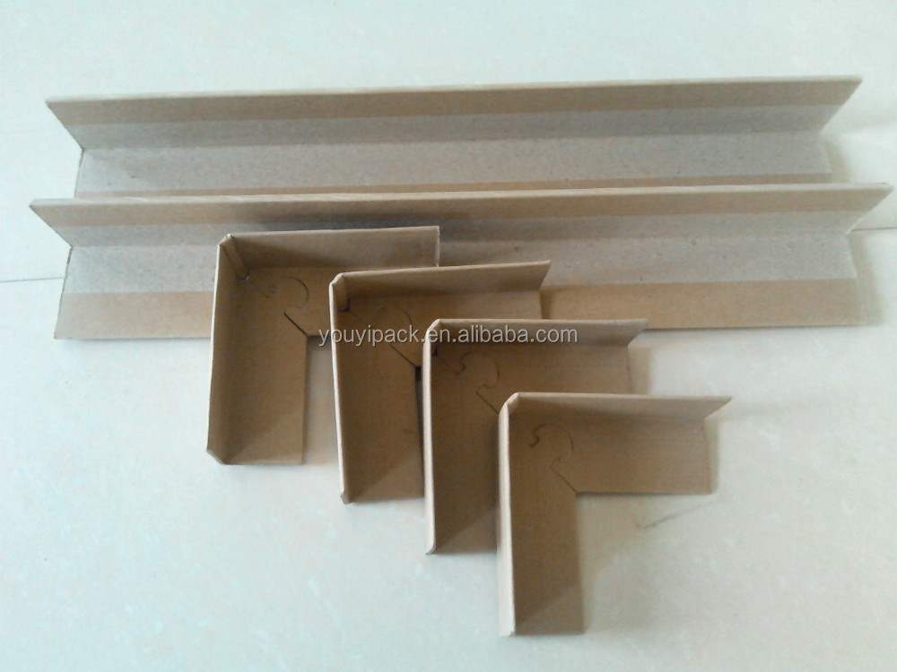 White and Brown Paper V Sharp Edge and factory direct sell corner protector