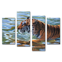 Animal mighty tiger picture Canvas Painting Wall Decor