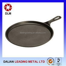 Cast Iron Griddle Flat Smooth Round Seasoned Stove Top Oven Pan