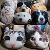 2016 new design high quality animal head pillow vivid car seat 3D cat dog cushion with filling .