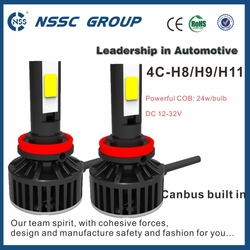 4C h8 h9 h11 die cast aluminum housing led headlight for electric tricycle car motorcycle conversion
