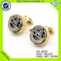 Functional Mechanical Cufflinks Wholesale Watch Movement Cufflinks