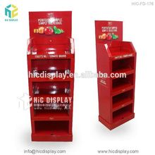 HIC 4-side paper fruit display, fruits and vegetable cart