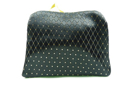 chevron fold cosmetic bag with double sides