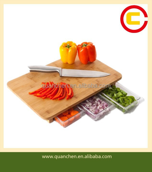 Fashion bamboo cutting board with drawer