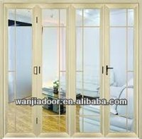 Wanjia good pvc profile exterior metal french doors