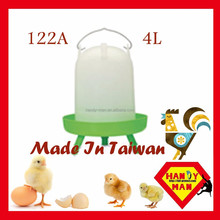High Quality Durablity Durable Crown Brand Sleeve Type Drinker 4L Wih 3 Legs Classic Chicken Drinker