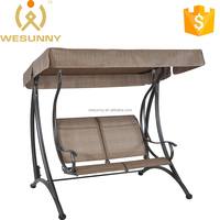 Leisure Double Adults Two Metal Swing Chair With Sling Sets