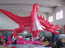 giant inflatable red dragon/ inflatable red helium dragon balloon/ inflatable red flying dragon