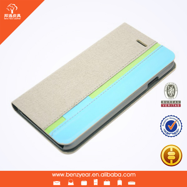 Hot selling 4.7 inch PU leather mobile flip cover case for i phone 6