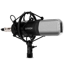 USB Microphone with Pop Shield Universal Pop Filter Microphone Wind Screen with Mic Stand Clip