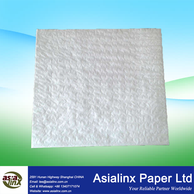 68 GSM Folded 4-Ply Cellulose Tissue Cotton Thread Reinforced Cleaning Cloth Paper