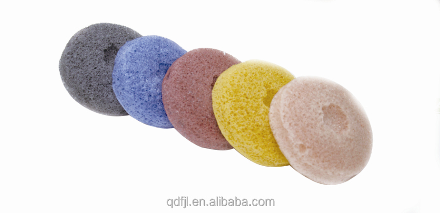 factory directly customized color konjac face sponges