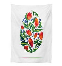 Tulip Flowers Paint in Retro Style Color Easter Egg Tablecloths