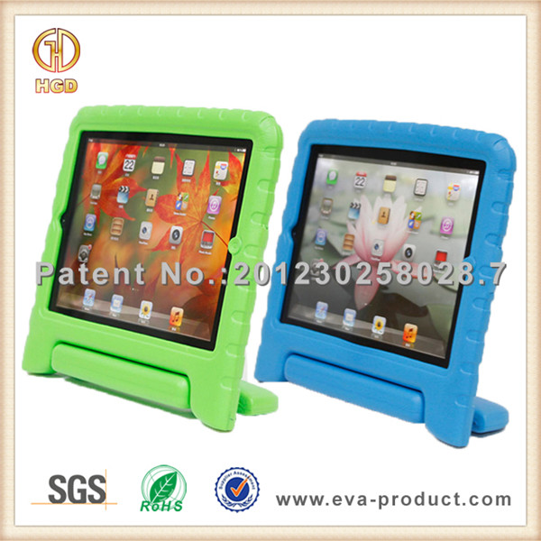 Manufacturer for cheap iPad 3 cases childproof foam cover with stand