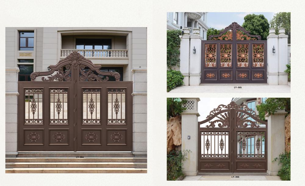 Indian house main gate designs aluminum alloy material garden door LY-902