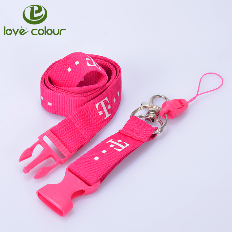 Factory custom polyester printing cell phone strap lanyard string