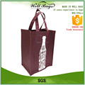 custom Wholesale bordeaux burgundy colour 6 bottles non woven tote wine bag alibaba trade assurance