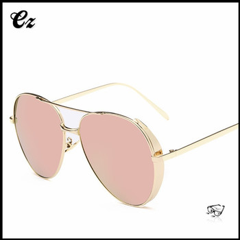 Latest 2017 ladies classical retro stylish sunglasses with engrave logo