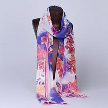 New Arrival Design Printed Pattern 100% twill vietnam silk scarves