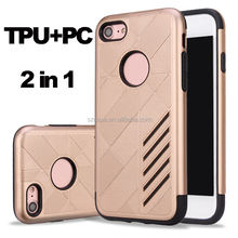 New Real Design Mobile Phone Case for iphone 7,Fashion Shockproof 2 in 1 TPU PC Cell Case for Iphone 7