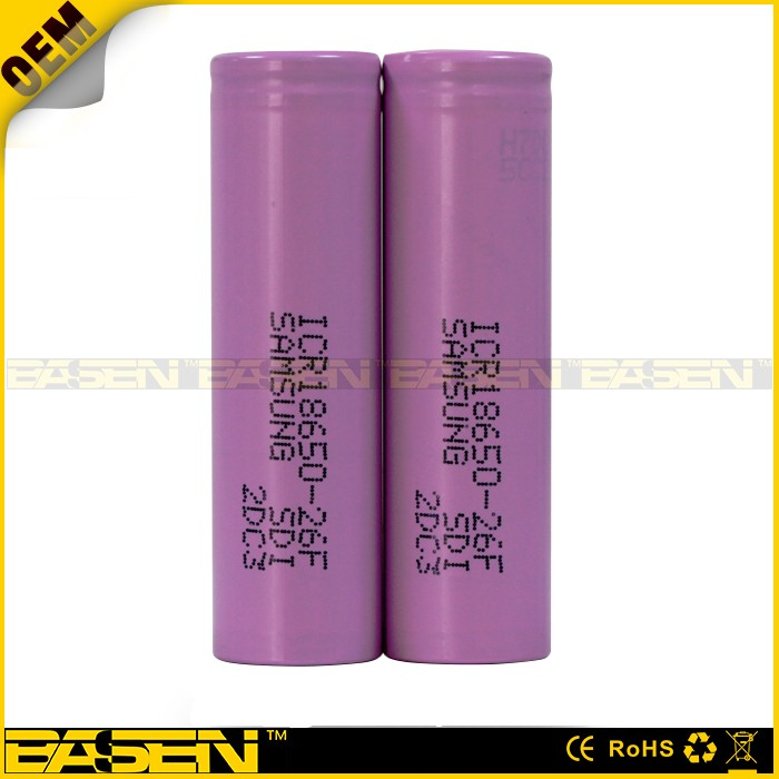 Newest icr18650-26f 18650 battery us18650gr g7 samsung 18650 battery 2600mah no protected