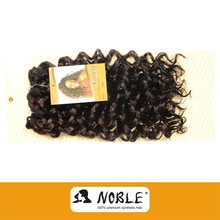 Noble Best Selling Cheap Synthetic Hair Bundles French Curly Hair Weaving