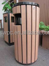 2016 hot selling type !! Good quality and environmental Wooden Plastic Steel Recycling Garden Dustbin