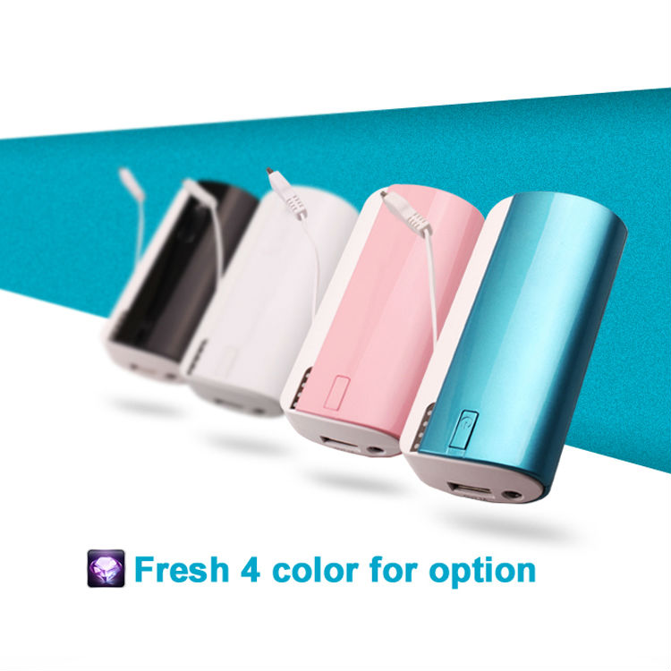 shenzhen 18650 battery mobile power bank 5600mah for iphone/samsung/htc/nokia