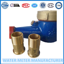 Nuts and connectors for accessories of water meter,brass body