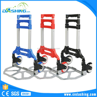 Supermarket shopping trolley aluminum pet cage portable trolley cart hand truck