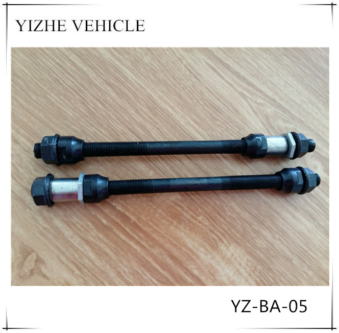 2016 high quality steel bike axle / black bicycle rear axle / factory wholesale cheap bike axle for bicycle